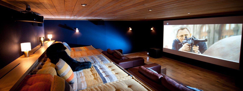Salle cinema au Chalet Grande Ourse